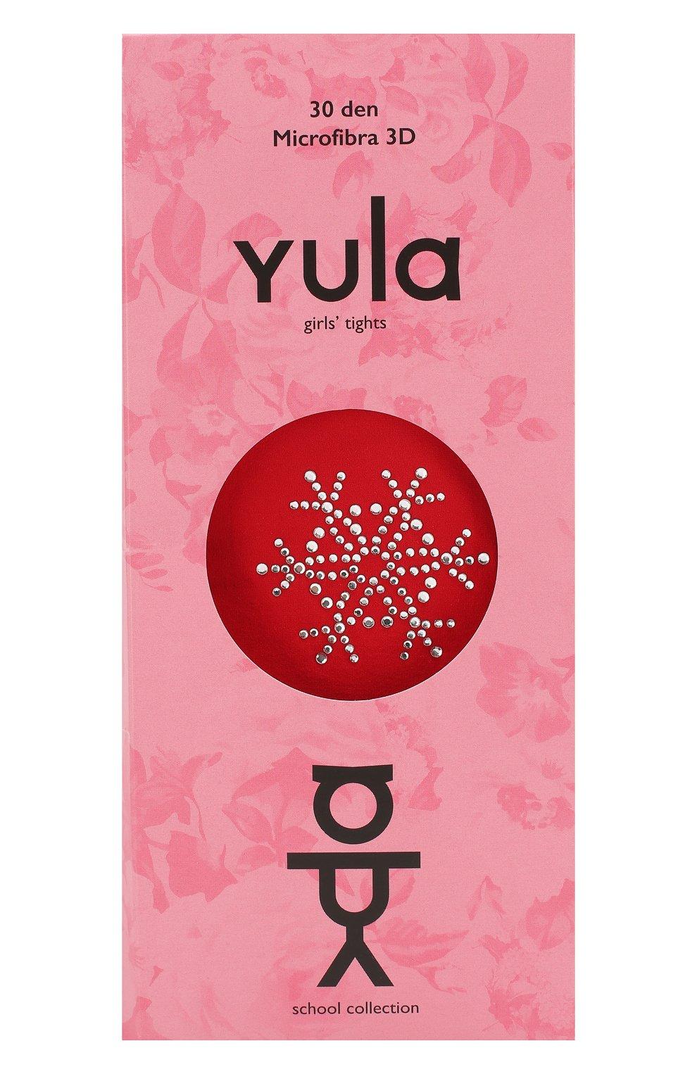 Детские колготки party collection 30 den YULA красного цвета, арт. YU-72 | Фото 1