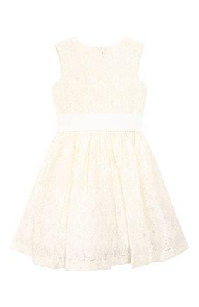 Детское комплект из платья и жакета IL GUFO бежевого цвета, арт. P20VX000N5025/2A-4A | Фото 2