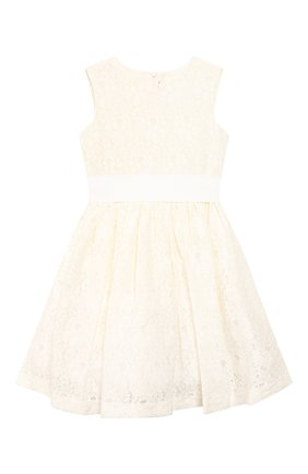 Детское комплект из платья и жакета IL GUFO бежевого цвета, арт. P20VX000N5025/5A-8A | Фото 2