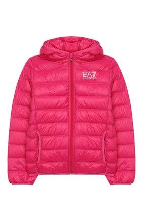 Детского пуховая куртка с капюшоном EA 7 фуксия цвета, арт. 8NBB34/BN29Z | Фото 1