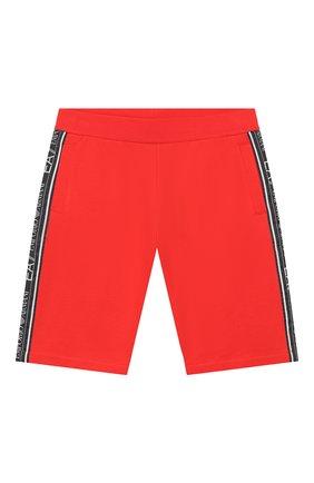 Детские хлопковые шорты EA 7 красного цвета, арт. 3HBS54/BJ05Z | Фото 1