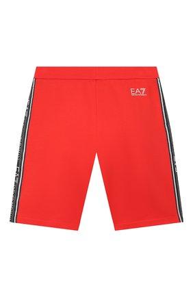 Детские хлопковые шорты EA 7 красного цвета, арт. 3HBS54/BJ05Z | Фото 2