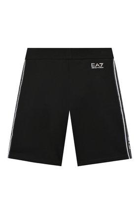 Детские хлопковые шорты EA 7 черного цвета, арт. 3HBS54/BJ05Z | Фото 2