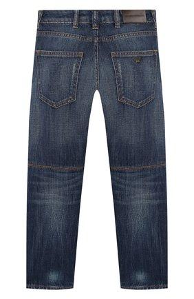 Детские джинсы EMPORIO ARMANI синего цвета, арт. 3H4J04/4D1UZ | Фото 2