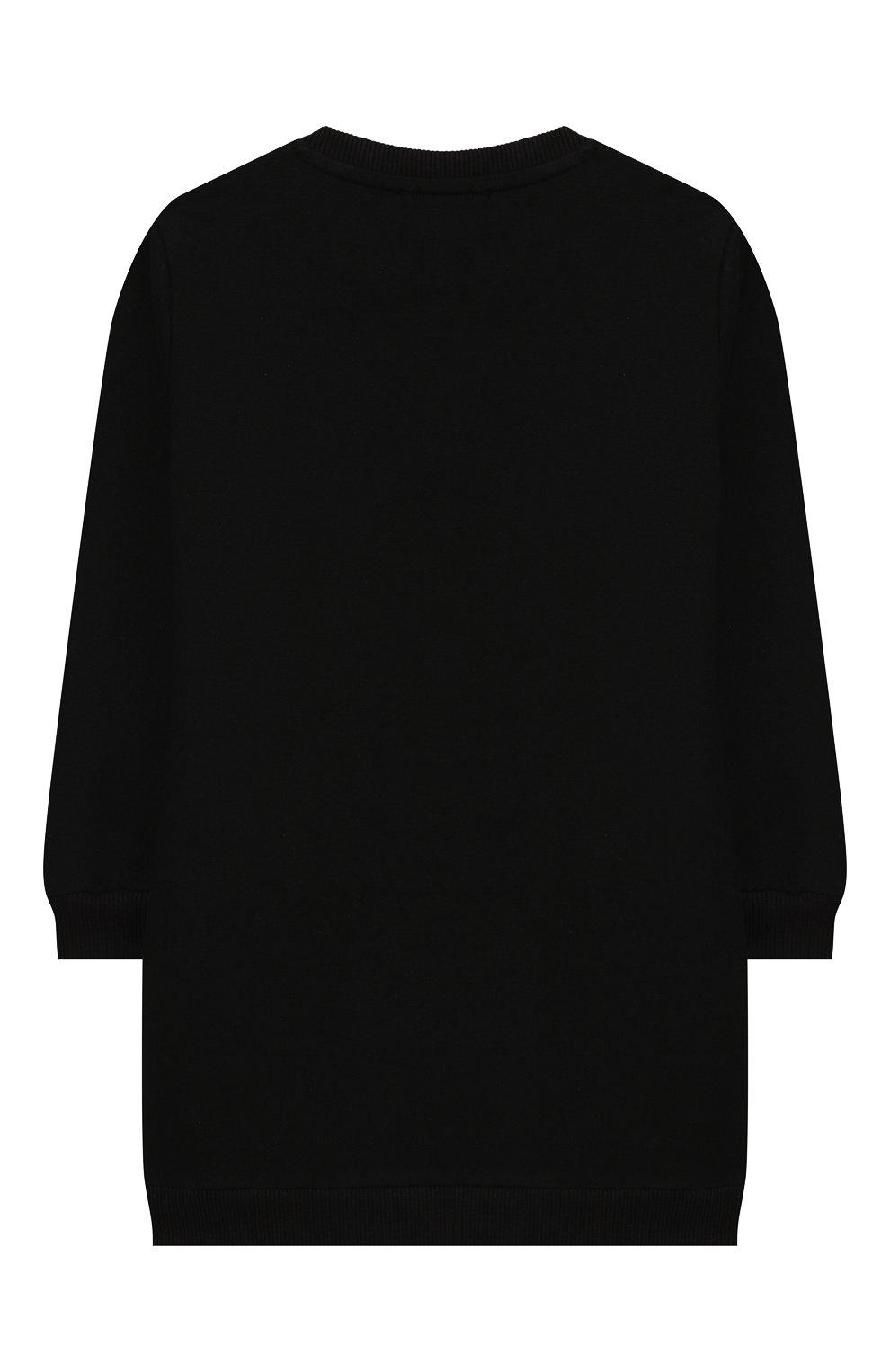 Женский хлопковое платье VERSACE черного цвета, арт. YA000143/YA00077 | Фото 2