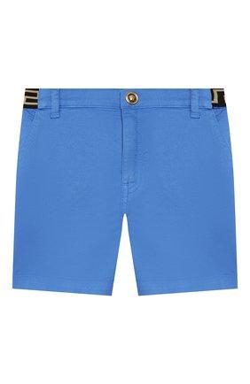 Детские хлопковые шорты VERSACE голубого цвета, арт. YB000101/A233747 | Фото 1