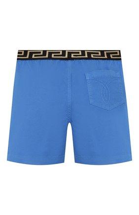 Детские хлопковые шорты VERSACE голубого цвета, арт. YB000101/A233747 | Фото 2