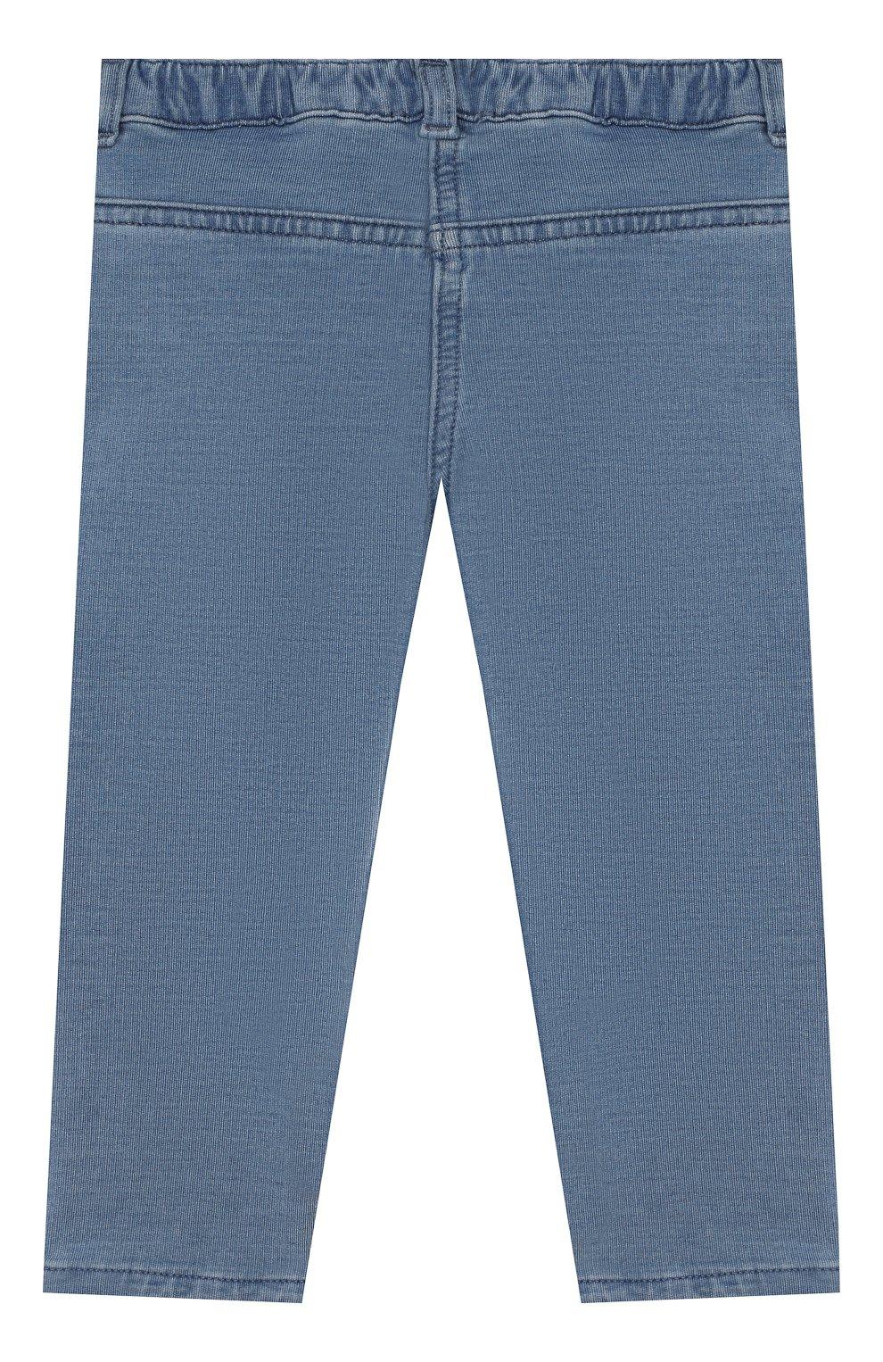 Детские хлопковые брюки VERSACE голубого цвета, арт. YB000124/A233587   Фото 2