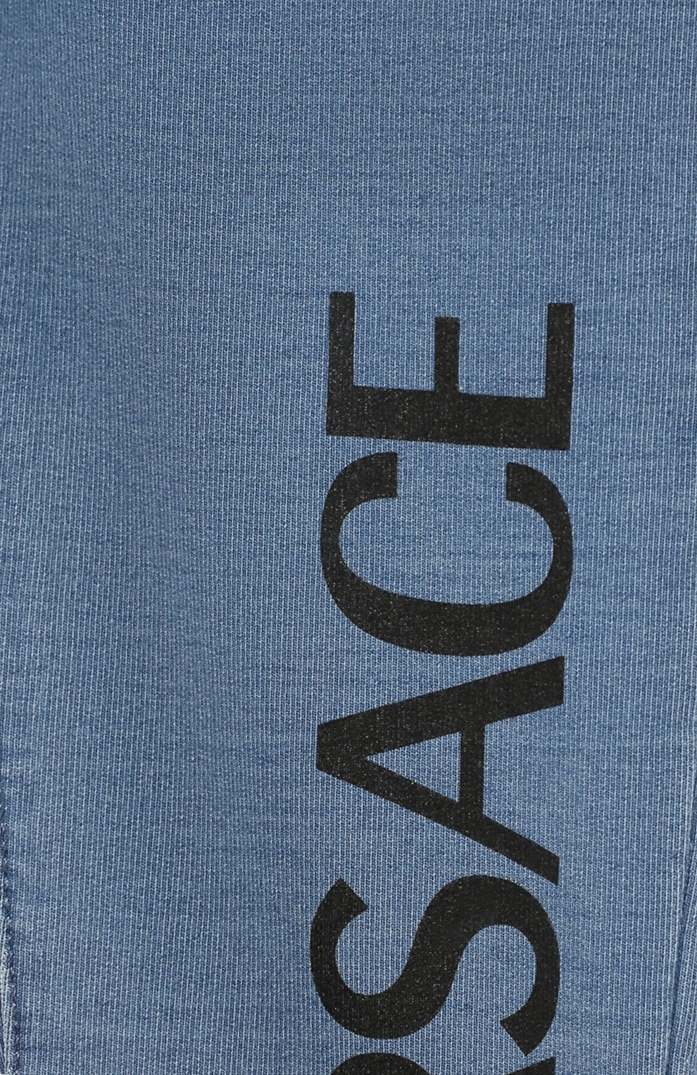 Детские хлопковые брюки VERSACE голубого цвета, арт. YB000124/A233587   Фото 3