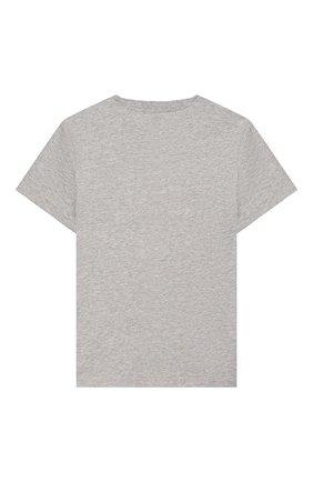 Детская хлопковая футболка STELLA MCCARTNEY серого цвета, арт. 588484/S0JC6 | Фото 2