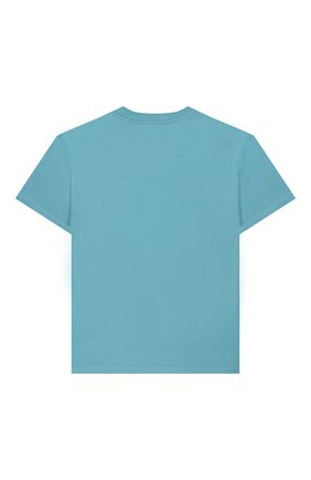 Детская хлопковая футболка STELLA MCCARTNEY голубого цвета, арт. 588492/S0JA6 | Фото 2