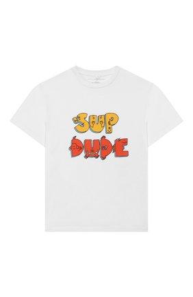 Детская хлопковая футболка STELLA MCCARTNEY белого цвета, арт. 588492/S0JA6 | Фото 1