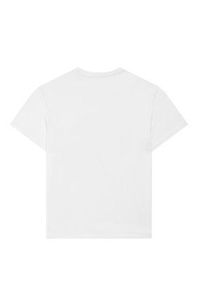 Детская хлопковая футболка STELLA MCCARTNEY белого цвета, арт. 588492/S0JA6 | Фото 2