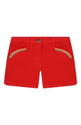 Детские хлопковые шорты STELLA MCCARTNEY красного цвета, арт. 588592/S0K59 | Фото 1