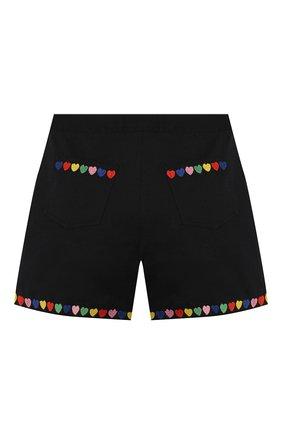 Детские шорты из льна и хлопка STELLA MCCARTNEY черного цвета, арт. 588605/S0KC6 | Фото 2