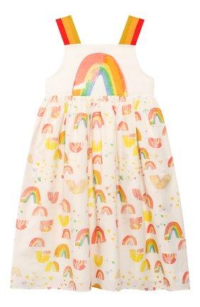 Детское хлопковый сарафан STELLA MCCARTNEY разноцветного цвета, арт. 588709/S0K69 | Фото 1