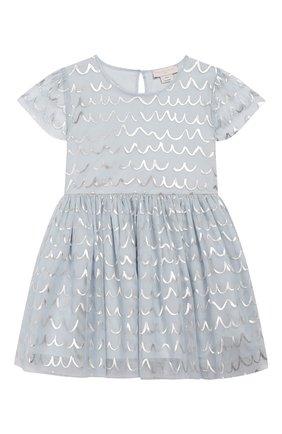 Детское платье STELLA MCCARTNEY голубого цвета, арт. 596503/S0KE2 | Фото 1
