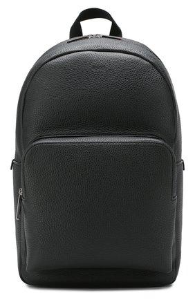 Мужской кожаный рюкзак BOSS черного цвета, арт. 50417871 | Фото 1