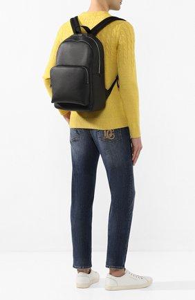 Мужской кожаный рюкзак BOSS черного цвета, арт. 50417871 | Фото 2