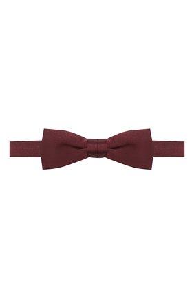 Мужской шелковый галстук-бабочка BOSS бордового цвета, арт. 50423862   Фото 1
