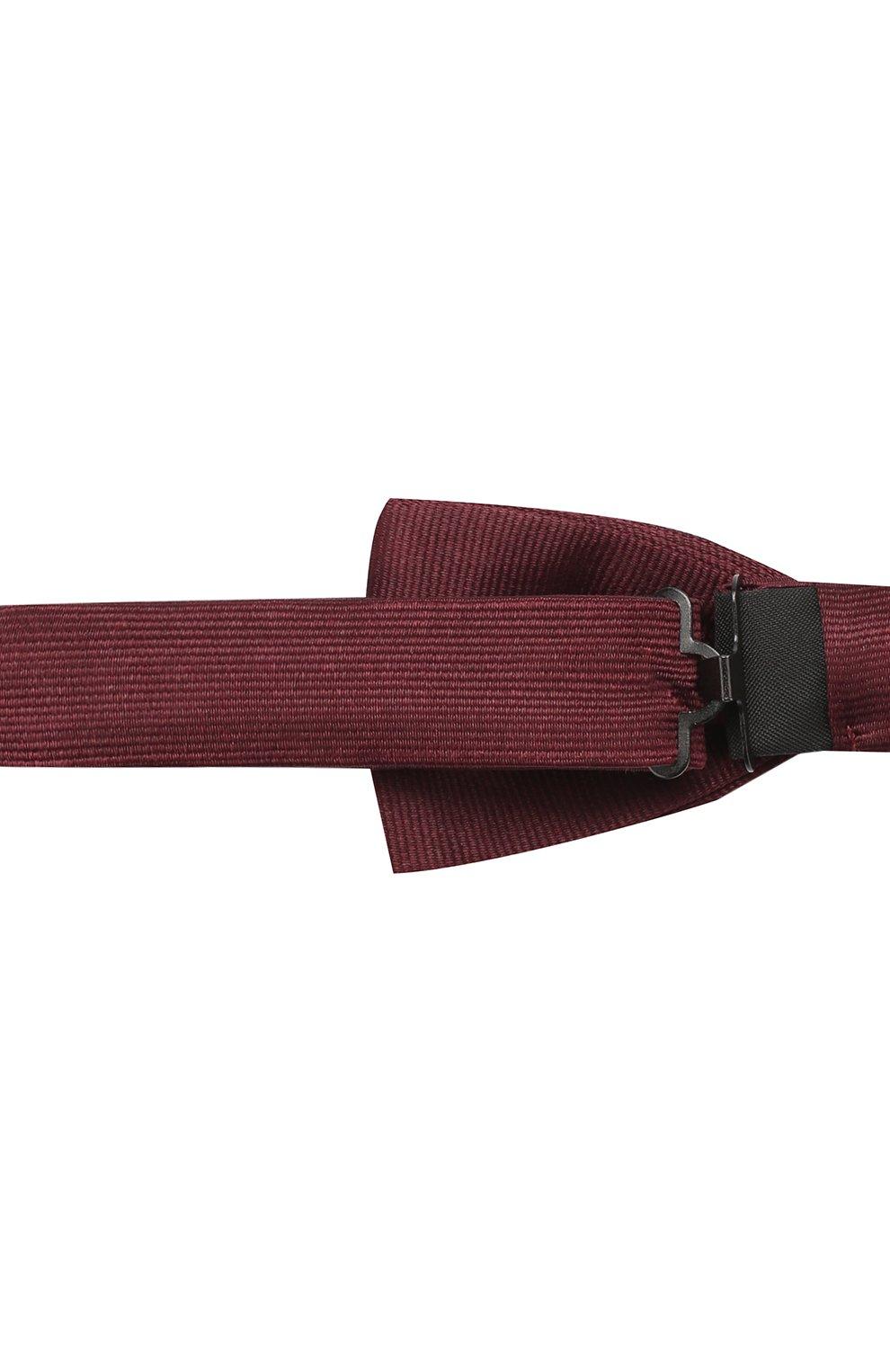 Мужской шелковый галстук-бабочка BOSS бордового цвета, арт. 50423862   Фото 3