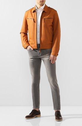 Мужской кожаные дерби MORESCHI темно-коричневого цвета, арт. 42955/162 | Фото 2