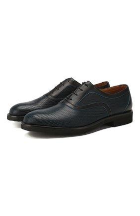 Мужские кожаные оксфорды MORESCHI темно-синего цвета, арт. 43369/162 | Фото 1