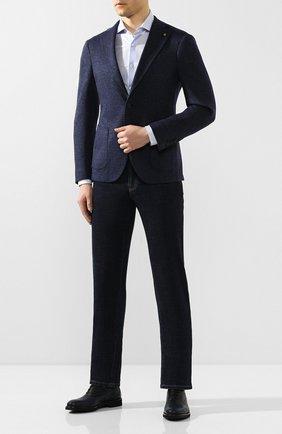 Мужские кожаные оксфорды MORESCHI темно-синего цвета, арт. 43369/162 | Фото 2