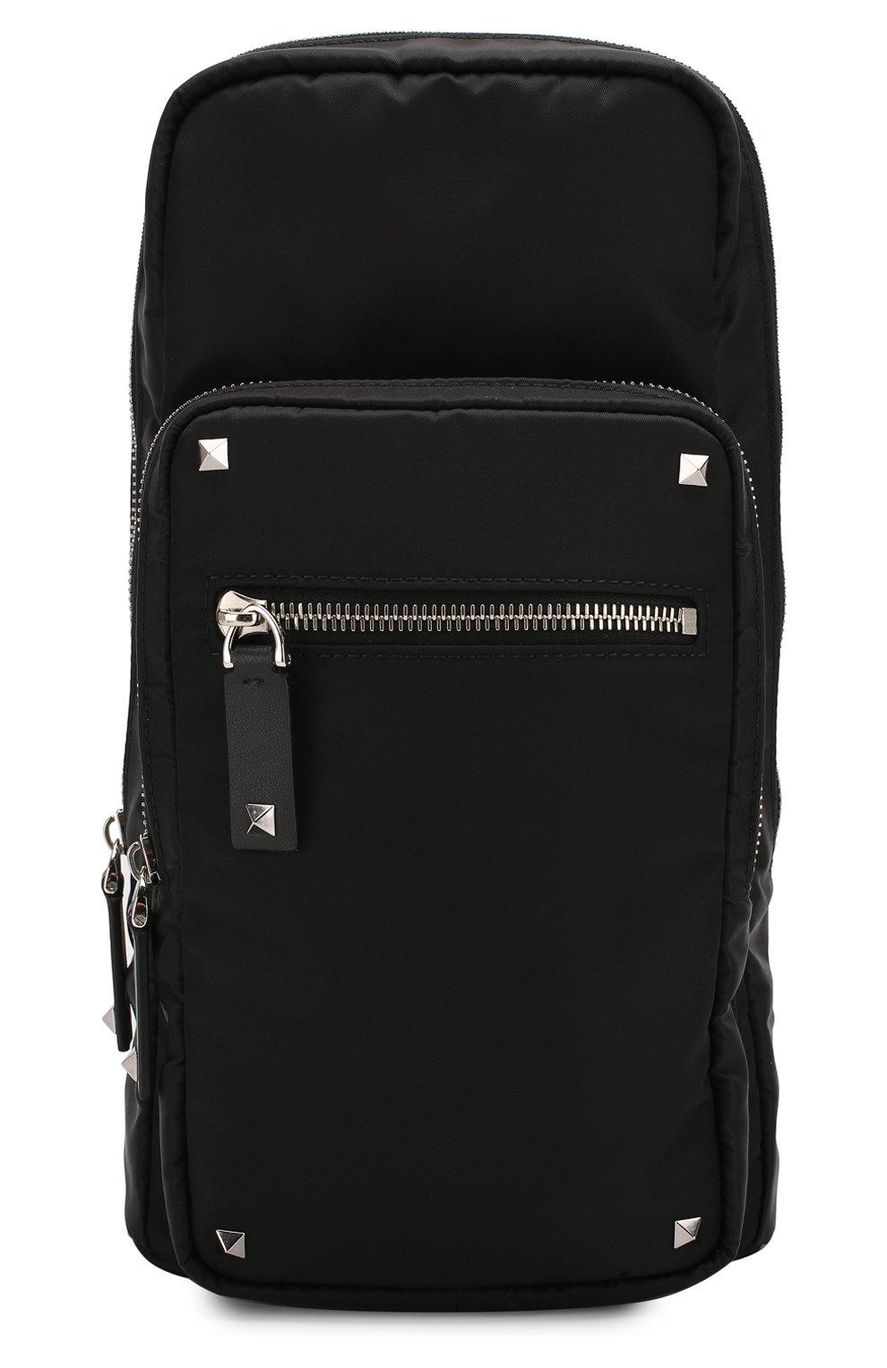 Мужской текстильная сумка-слинг valentino garavani vltn VALENTINO черного цвета, арт. TY2B0888/RPY | Фото 1