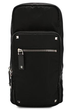 Текстильная сумка-слинг Valentino Garavani VLTN | Фото №1