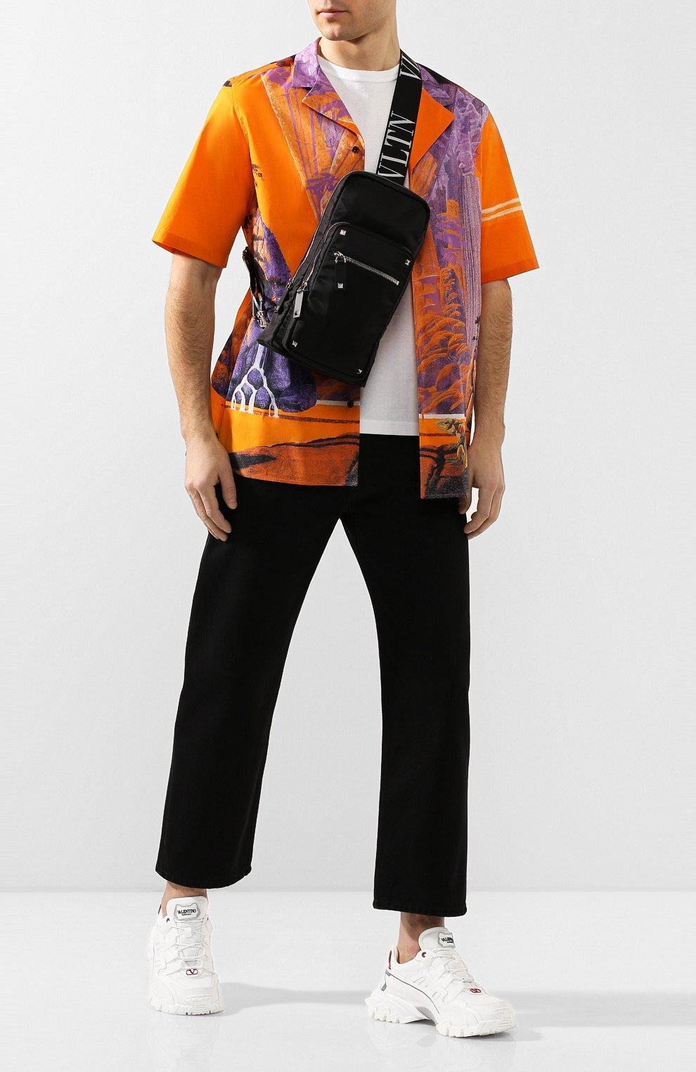 Мужской текстильная сумка-слинг valentino garavani vltn VALENTINO черного цвета, арт. TY2B0888/RPY | Фото 2