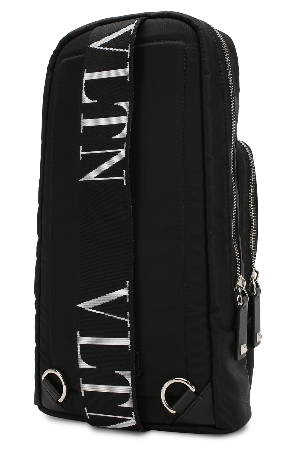 Мужской текстильная сумка-слинг valentino garavani vltn VALENTINO черного цвета, арт. TY2B0888/RPY | Фото 3