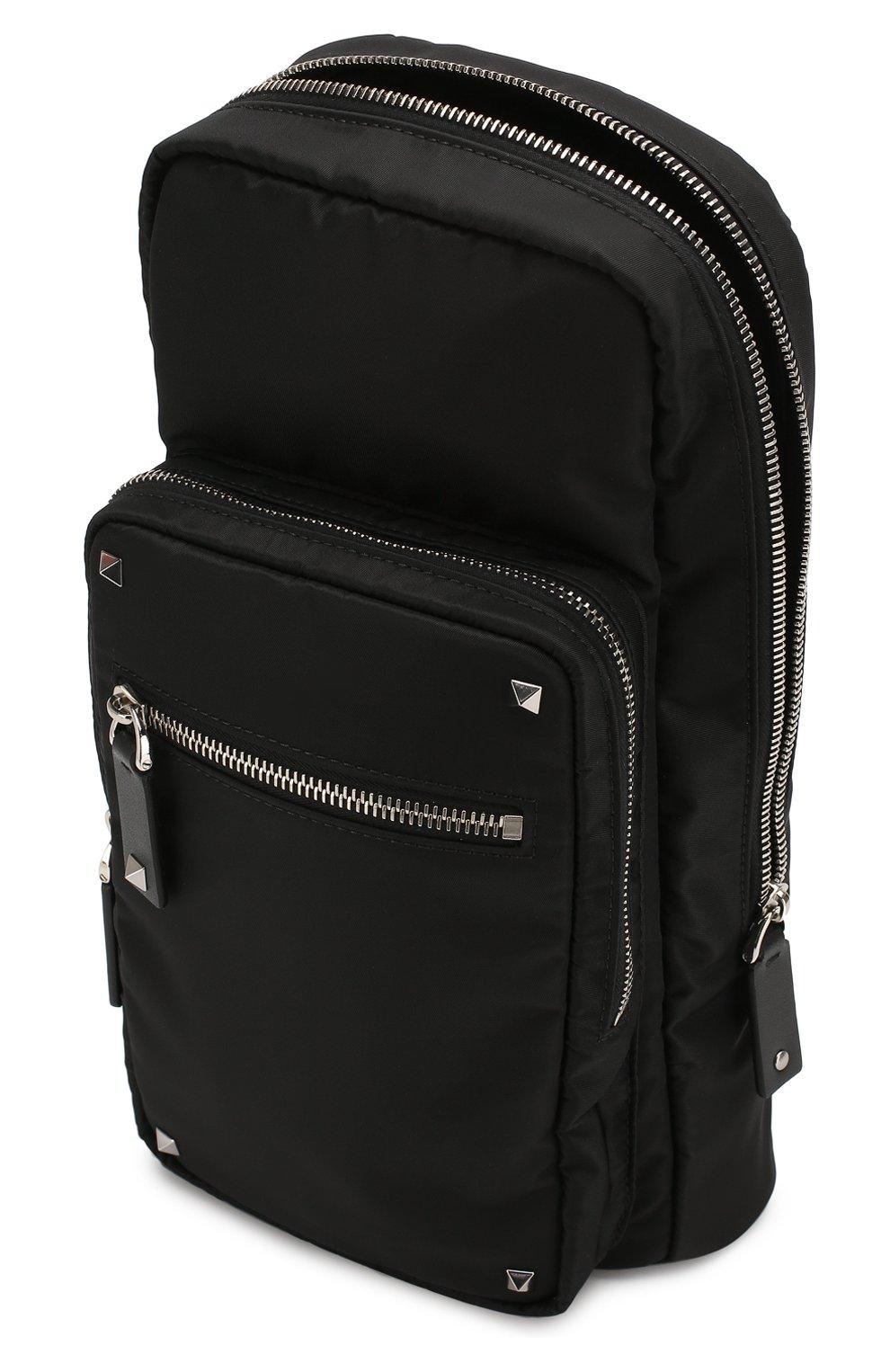 Мужской текстильная сумка-слинг valentino garavani vltn VALENTINO черного цвета, арт. TY2B0888/RPY | Фото 4