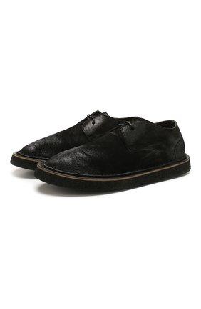 Мужские кожаные дерби MARSELL черного цвета, арт. MM3161/PELLE R0VESCI0 | Фото 1