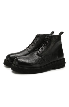 Мужские кожаные ботинки MARSELL черного цвета, арт. MM3090/PELLE V0L0NATA | Фото 1