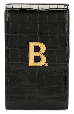 Мужская кожаная сумка BALENCIAGA черного цвета, арт. 600201/1LRNM | Фото 1