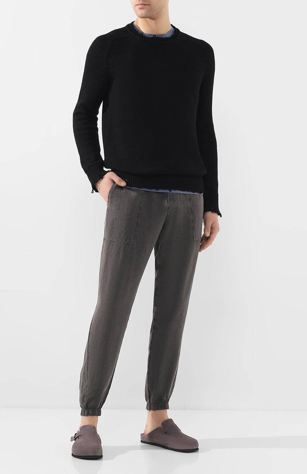 Мужские замшевые сабо OFFICINE CREATIVE серого цвета, арт. AG0RA`/004/0LIVER | Фото 2 (Материал внутренний: Натуральная кожа; Материал внешний: Замша; Стили: Кэжуэл)