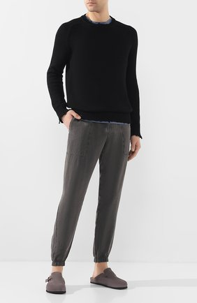 Мужские замшевые сабо OFFICINE CREATIVE серого цвета, арт. AG0RA`/004/0LIVER | Фото 2