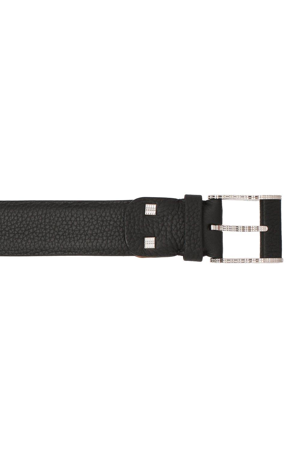 Мужской кожаный ремень ZILLI черного цвета, арт. MJL-CLAQE-01805/0256   Фото 3