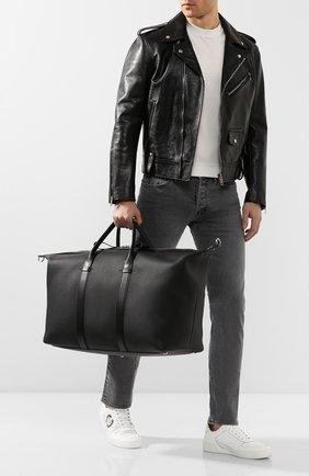 Мужская кожаная дорожная сумка TOM FORD черного цвета, арт. H0378P-LCL037 | Фото 2