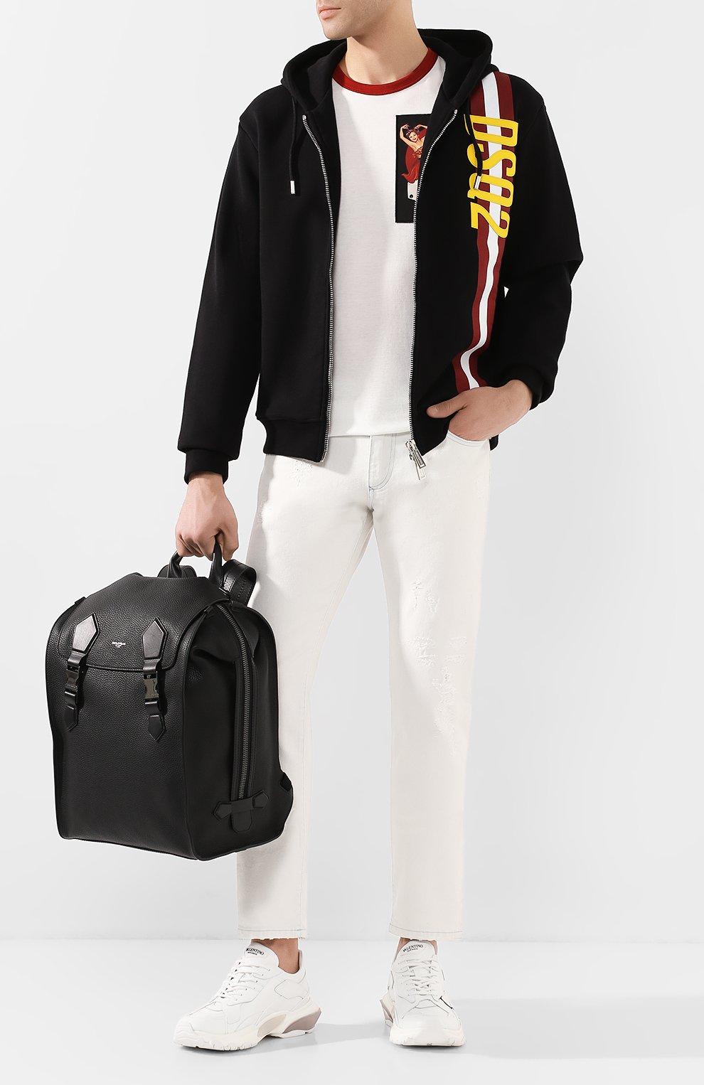 Мужской кожаный рюкзак edge DOLCE & GABBANA черного цвета, арт. BM1799/AJ773 | Фото 2