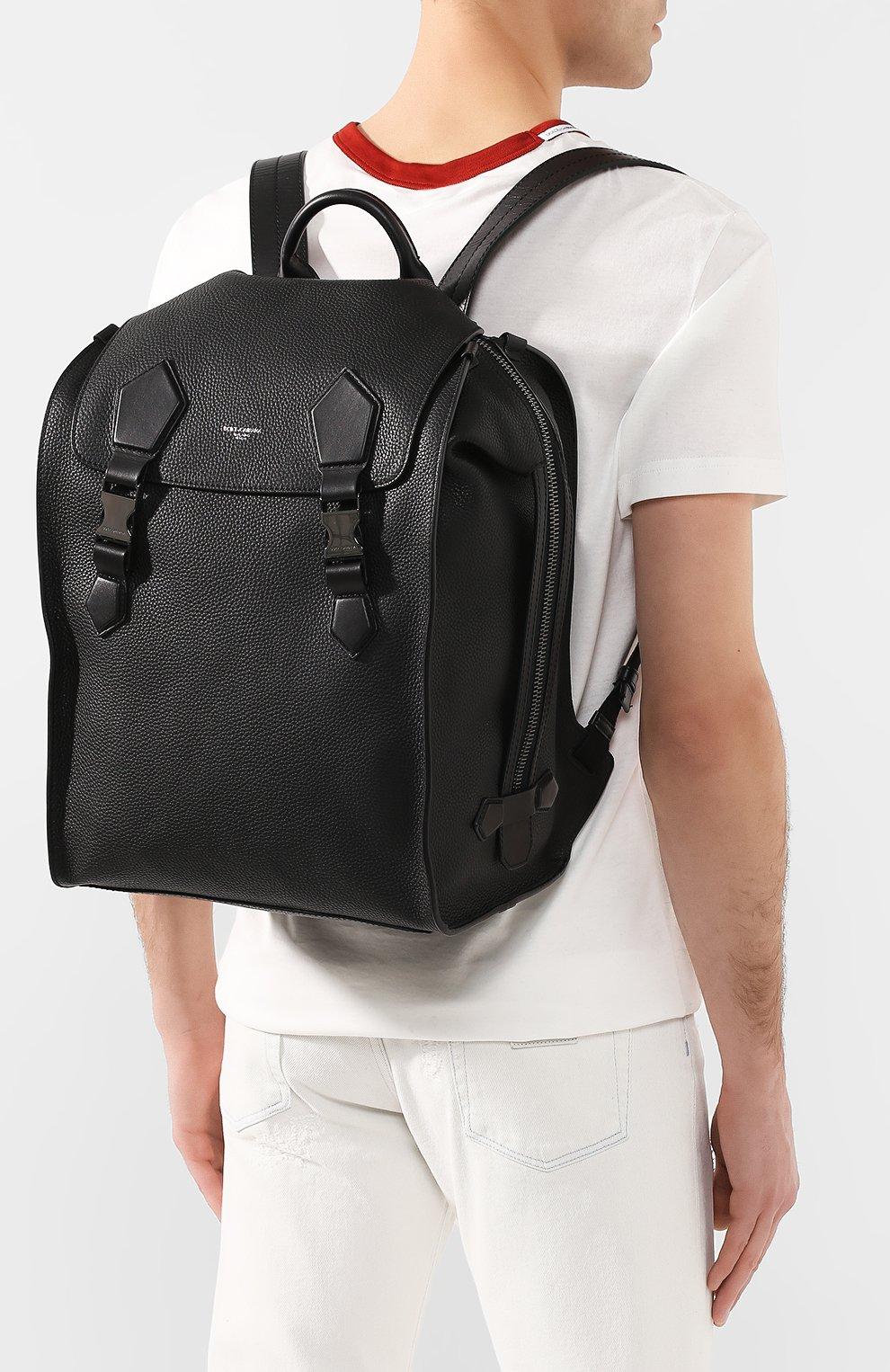 Мужской кожаный рюкзак edge DOLCE & GABBANA черного цвета, арт. BM1799/AJ773 | Фото 5