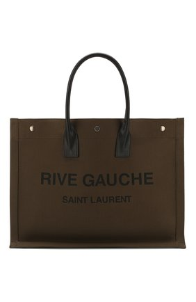 Мужская текстильная сумка-тоут rive gauche SAINT LAURENT хаки цвета, арт. 509415/G0A4D | Фото 1