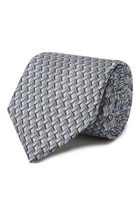 Мужской шелковый галстук ZILLI серого цвета, арт. 50529/TIES | Фото 1