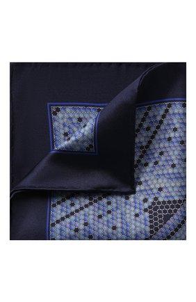 Мужской шелковый платок ZILLI синего цвета, арт. 50712/HANDKERCHIEFS | Фото 1