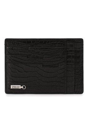 Мужской футляр для кредитных карт из кожи аллигатора ZILLI черного цвета, арт. MJL-0WC03-10100/0001/AMIS | Фото 1