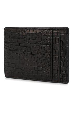 Мужской футляр для кредитных карт из кожи аллигатора ZILLI черного цвета, арт. MJL-0WC03-10100/0001/AMIS | Фото 2