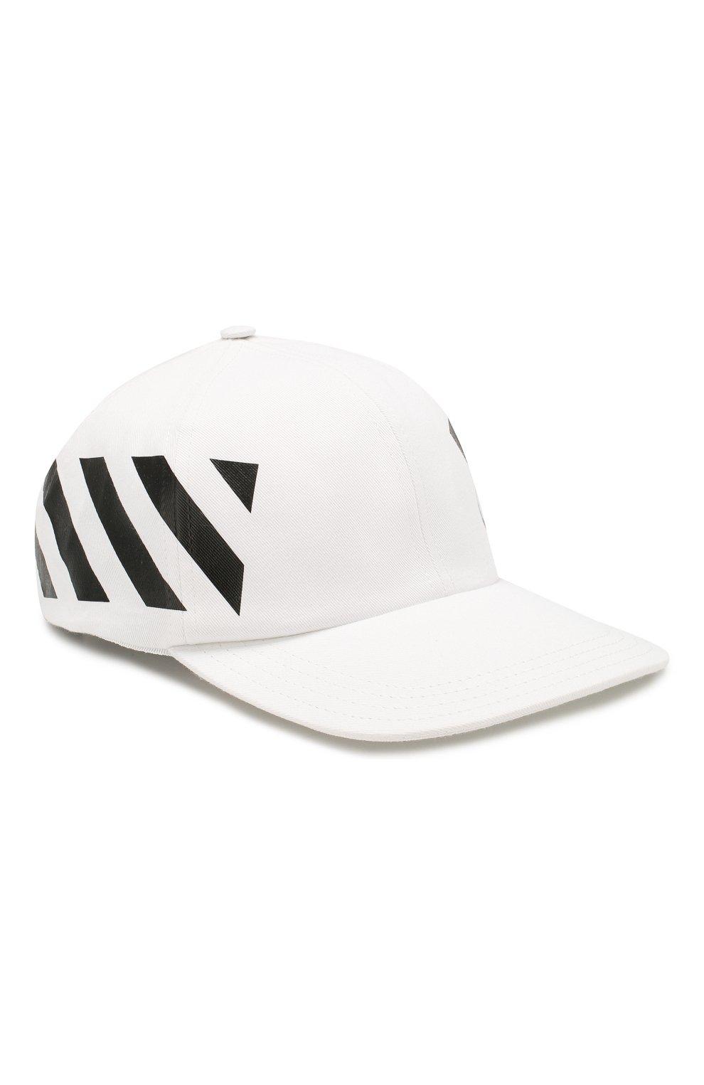 Мужской хлопковая бейсболка OFF-WHITE белого цвета, арт. 0MLB008R204000180110   Фото 1