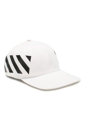 Мужской хлопковая бейсболка OFF-WHITE белого цвета, арт. 0MLB008R204000180110 | Фото 1
