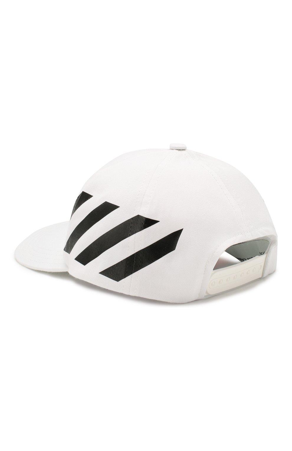 Мужской хлопковая бейсболка OFF-WHITE белого цвета, арт. 0MLB008R204000180110   Фото 2